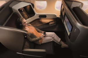 Singapore Airlines A350-900 business class. The carrier takes out top spot in the best-of competition.