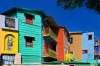 Colorful houses in La Boca, Buenos Aires, Argentina.