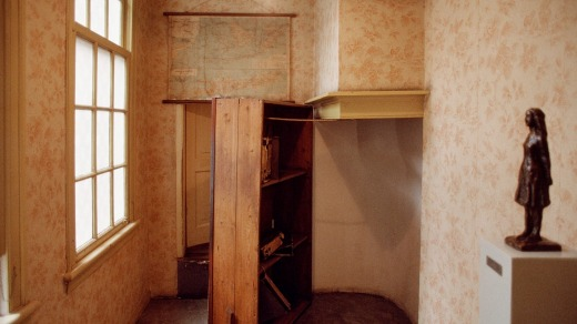Secret passage leading to the annex in Amsterdam, where Anne Frank and her family hid during World War II.