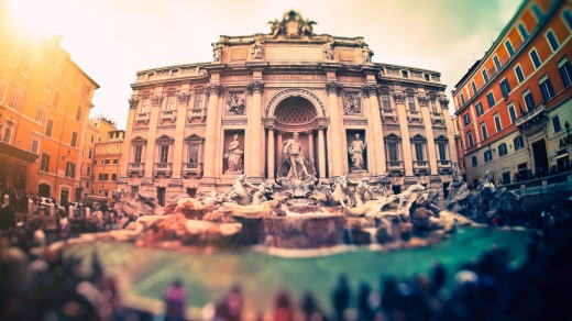 Popular sights such as the Trevi Fountain, Rome, attract tourists and selfie-takers.