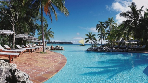 Pool at Le Meridien in Noumea, New Caledonia.
