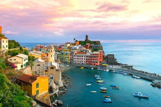Beautiful view of Vernazza, Cinque Terre.
