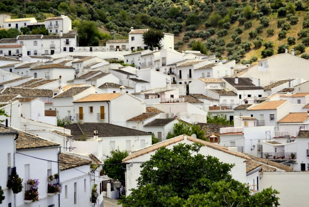 Zahara de la Sierra, one of the white villages, in Cadiz, Andalucia, Spain.