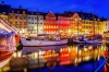 Nyhavn in the evening, Denmark, Copenhagen.