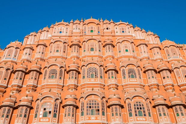 The Palace of Winds Hawa Mahal in Jaipur, India.