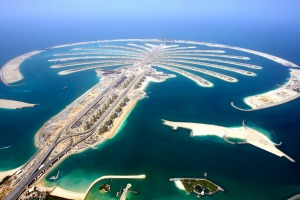 A hare-brained scheme that worked: The Palm Jumeirah, Dubai.