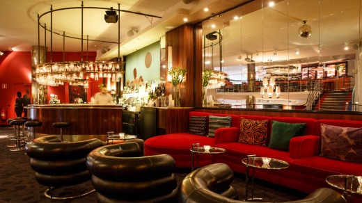 Cocktail bar at the Rival Hotel.