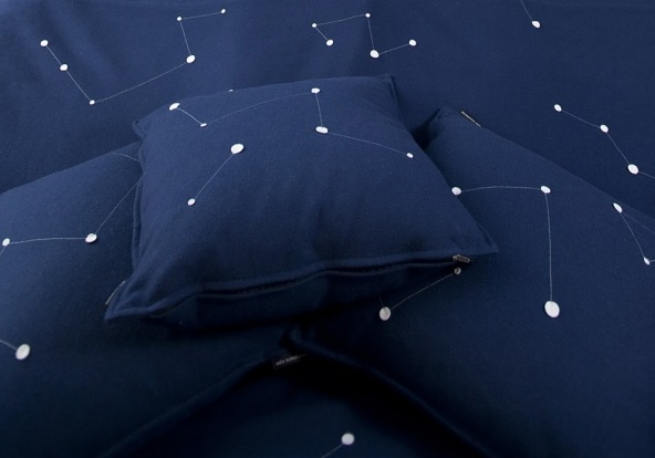 Pillows in the UFO.