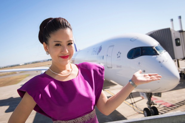 Thai Airways new A350 will fly Bangkok-Melbourne.