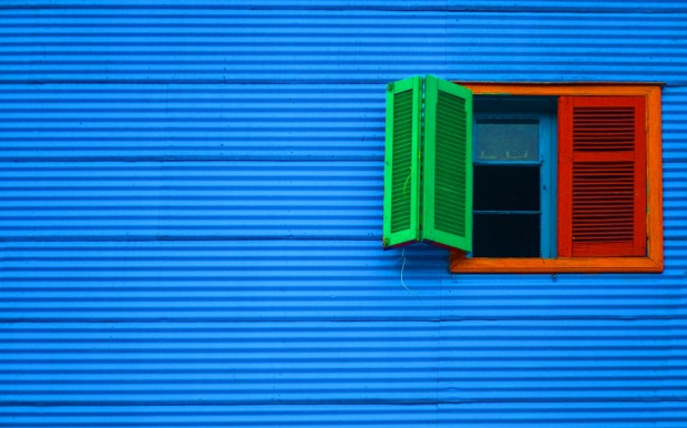 Close-up of multicoloured house in La Boca, Buenos Aires, Argentina.