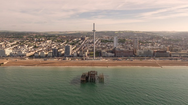 The British Airways i360: The world's tallest moving observation tower.
