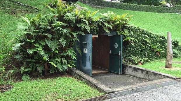 visiting fort canning in singapore