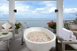Enjoy a luxury, scenic bath at Amatara Resort and Wellness in Phuket.
