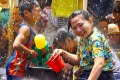 Locals in Chiang Mai during Songkran.