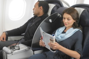Business class in the South African Airways' Airbus A340-600, which like the Airbus A340-300, also flies the ...