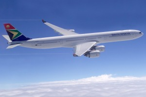 An Airbus A340-600, which like the Airbus A340-300, flies the Johannesburg-Perth route.