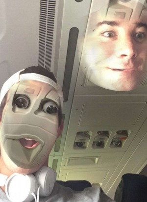 Passenger's terrifying face swap photo with aircraft cabin