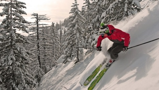 The terrain at Red Mountain, BC, Canada, will keep skiers on their toes.