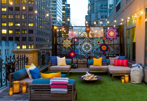 Outdoor Glamping Suite at the W Hotel.