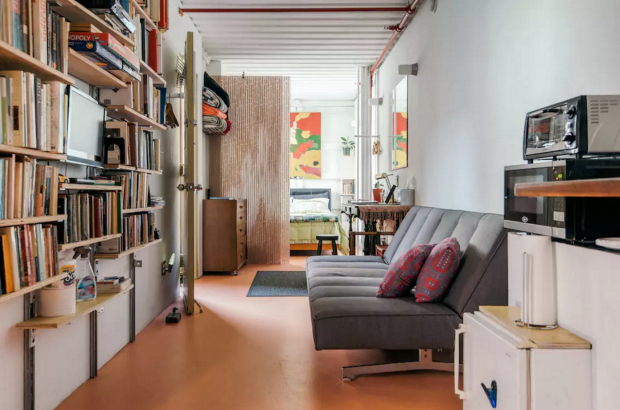 Stay in New York's first shipping container.