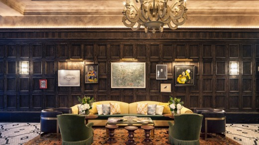 Sophisticated upgrade: The lobby of The Beekman.