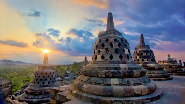 The name Bore-Budur, and thus BoroBudur, is thought to have been written by Raffles in English grammar to mean the ...