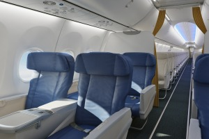 Air Vanuatu's 737-800 business class.