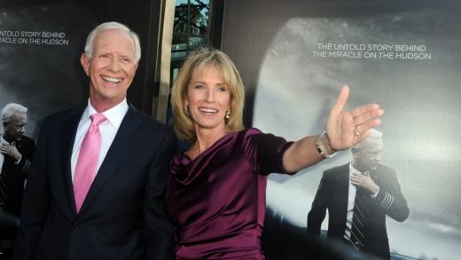 Author/pilot Chelsey 'Sully' Sullenberger and his wife Lorrie.