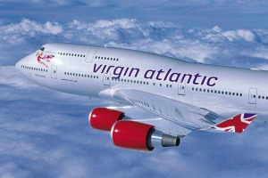 "Virgin Atlantic's 747 economy seating was a bit cramped but the flight was rated ""not bad""."