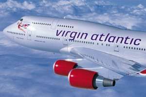 """Virgin Atlantic's 747 economy seating was a bit cramped but the flight was rated """"not bad""""."""
