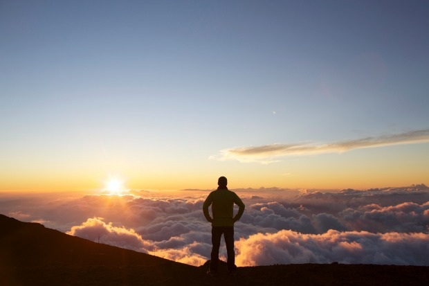 Sunrise at Haleakala Crater.