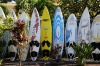 Colourful surfboards in Paia, Maui, Hawaii.