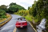 Driving the road to Hana, Maui, Hawaii.