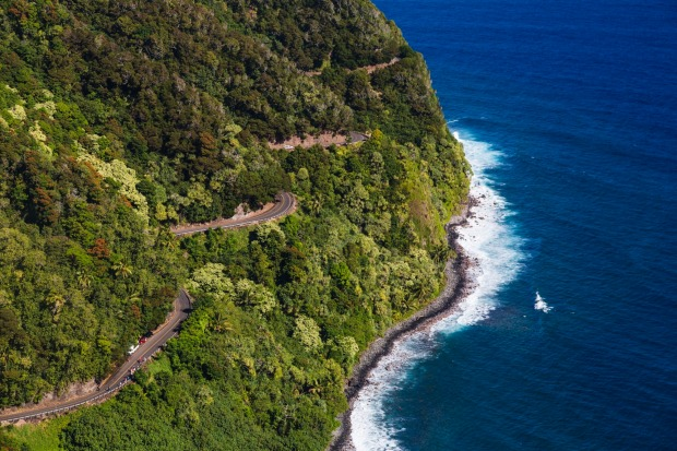 The Road to Hana has 620 curves.