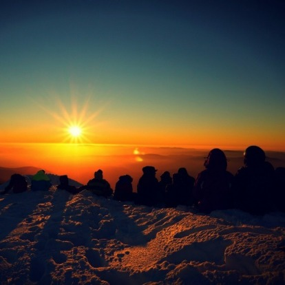FINALIST: First summit sunset of the season.
