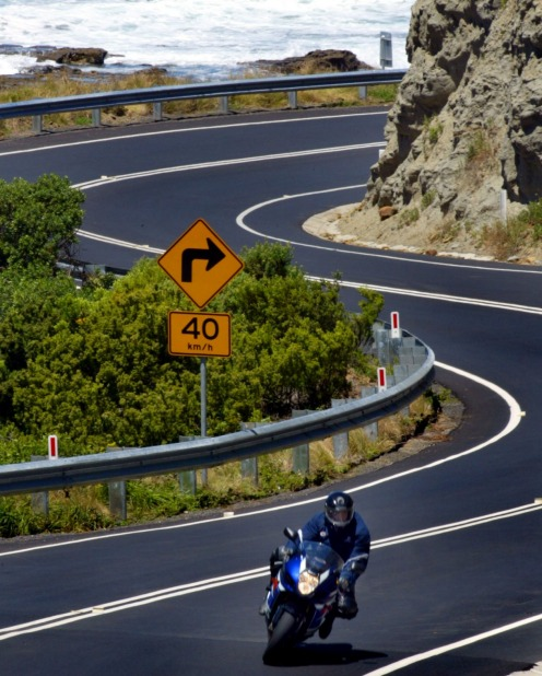 The Great Ocean Rd at Catheral Rock.