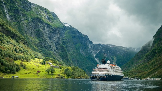 The MS Hebridean Sky in Norway on an APT Majestic Fiords cruise.