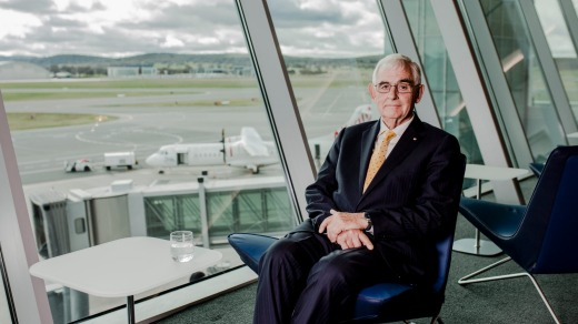 Canberra Airport owner Terry Snow in the new international terminal.