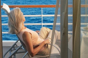 To help avoid seasickness choose a cabin with a balcony to provide fresh air.
