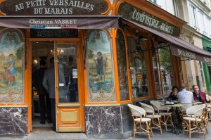 Bakery Au Petit Versailles in the Marai district of Paris, rue Frantois Miron.