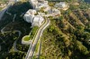 The Getty Center in the Los Angeles neighborhood of Brentwood. The Getty Center is one of two branches of the J. Paul ...