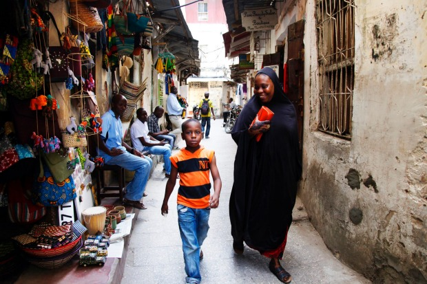 Stone town, Tanzania: Streets of the town are always lively.