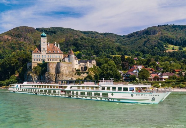 Crystal Mozart: Ocean-going Crystal Cruises branched into river cruising for the first time last July with this ship on ...