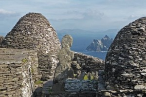 Skellig Michael, where parts of the latest <i>Star Wars</i> movie were filmed.