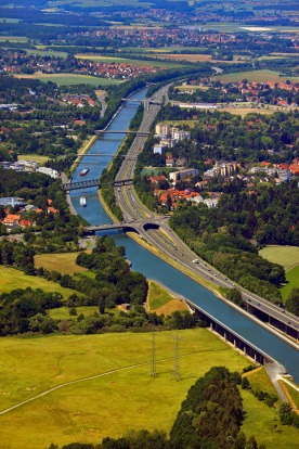 RHINE-MAIN-DANUBE CANAL, GERMANY. Also known as the Europa Canal, this 171-kilometre canal links three major rivers – ...