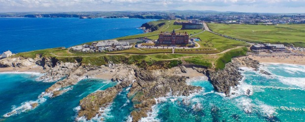 The Headland Hotel, Cornwall, has a dramatic location with sweeping views.