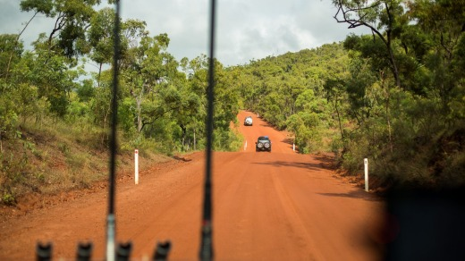 The road to Cape York is a red dusty one with a lot of bumps along the way.