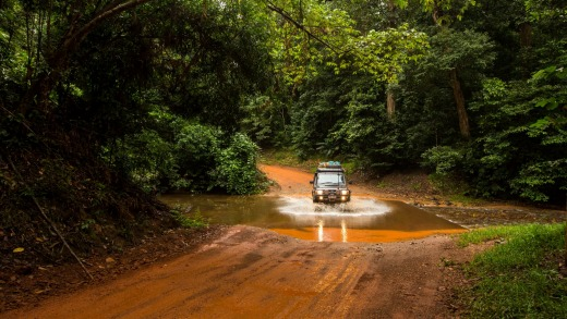 Getting to Cape York includes plenty of rainforests and creek crossings on the way.