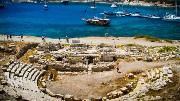 The ruins of the ancient Greek city of Knidos.