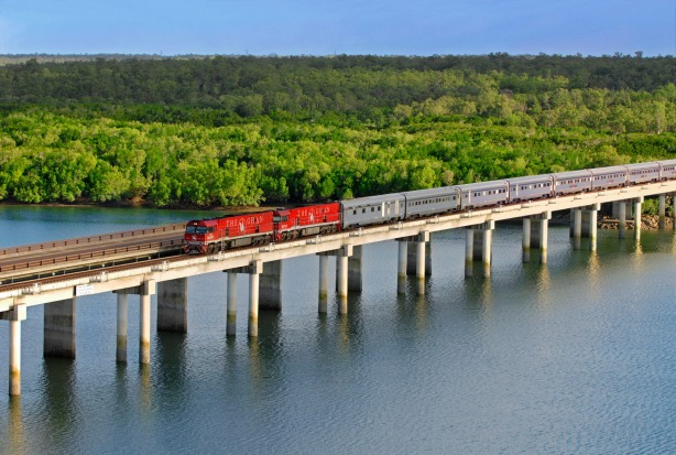 Alice Springs to Darwin: The Ghan.